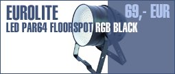 Eurolite LED PAR64 Floorspot RGB Black