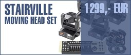 Stairville Moving Head 4pc Set DMX MV250H
