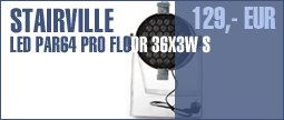 Stairville LED PAR 64 Pro Floor 36x3W Alu