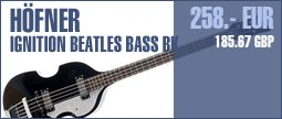 H�fner Ignition Beatles Bass BK