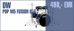 DW PDP M5 Fusion - Blue - Shell