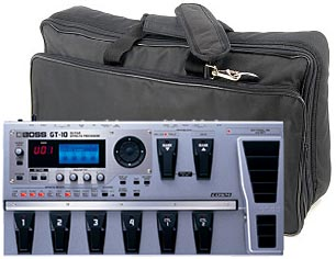 Boss GT-10 set with effect pedal bag