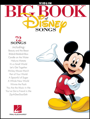 Hal Leonard The Big Book Of Disney Violin