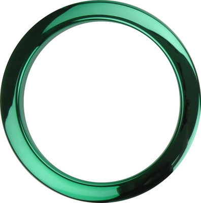 "Bass Drum O's 4"" Green Chrome round HCG4"
