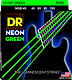 DR Strings NGB-45 HiDef Neon Green